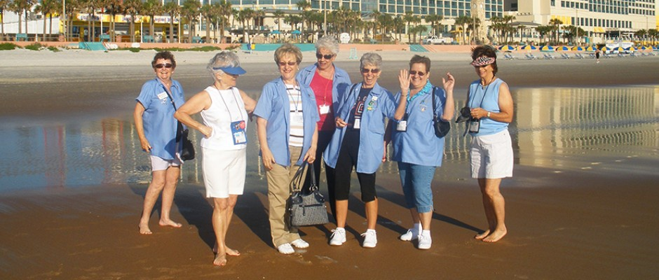 Some of the ladies enjoying the beach before competition